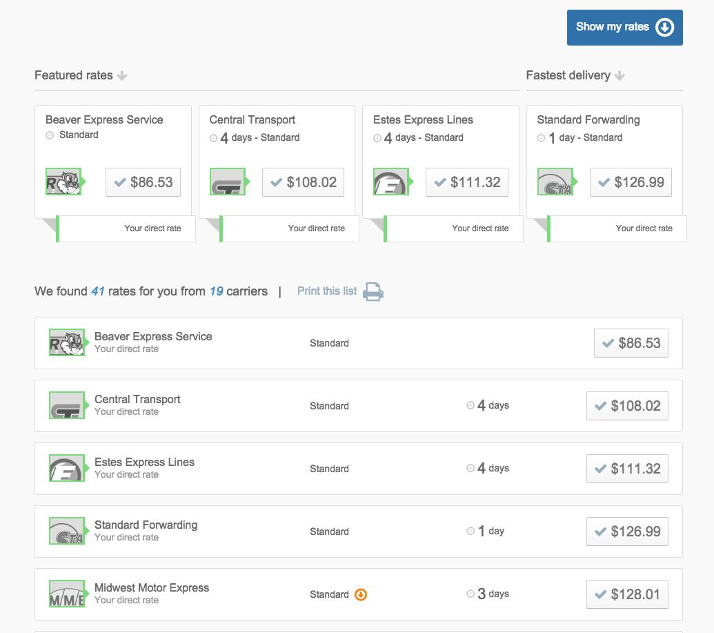 Freightiew UI screenshot