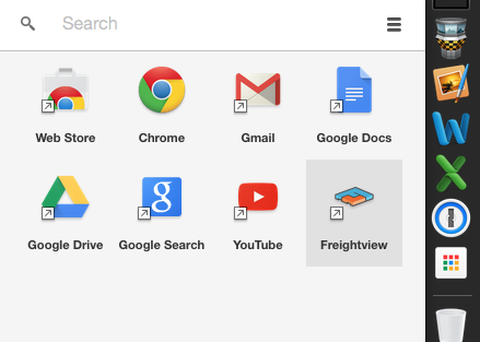 Screenshot of Chrome App Launcher