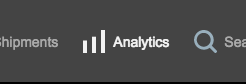 Freightview Analytics menu item