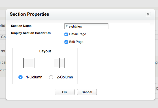 Section Properties in Salesforce
