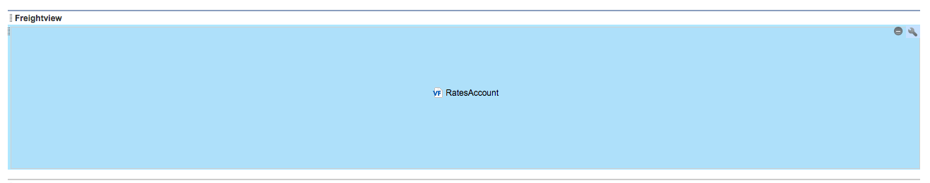 Blue RatesAccount box in Salesforce