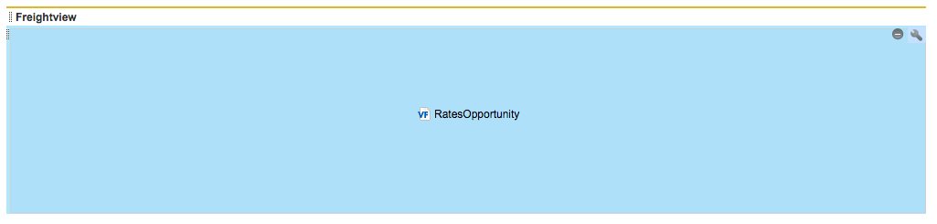 Blue RatesAccount box in Salesforce