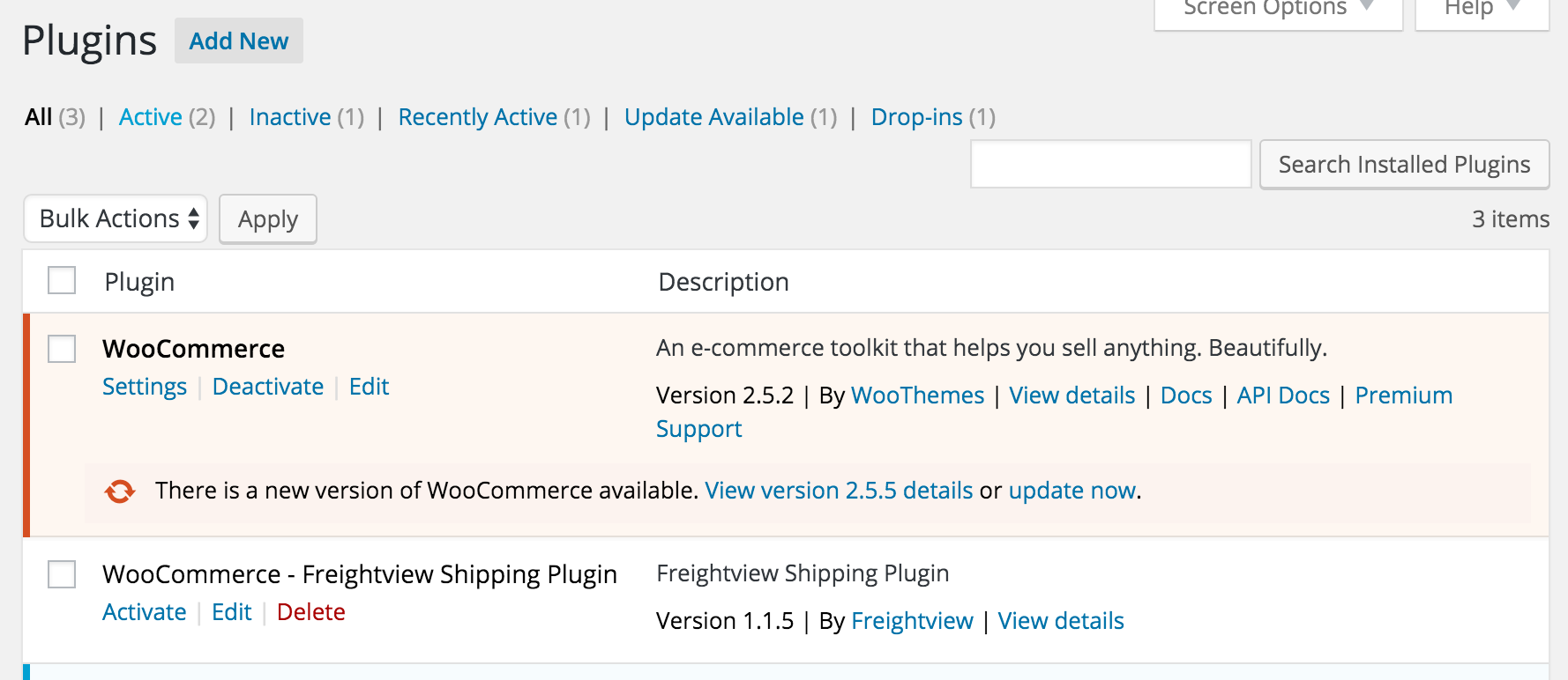 Click to activate Freightview for WooCommerce