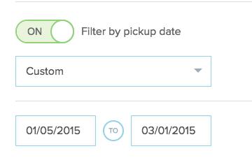 customer date range