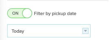 pickup date